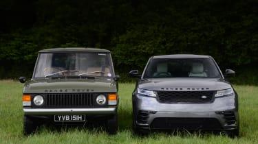 Range Rover Velar vs Range Rover Velar - full front
