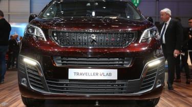 Peugeot Traveller i-Lab Concept - Geneva Stand Front Detail