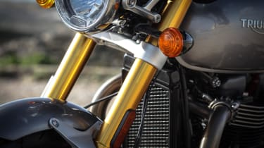 Triumph Thruxton R review - front suspension
