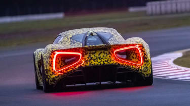 Lotus Evija - rear testing