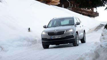 Skoda Karoq road trip - snow