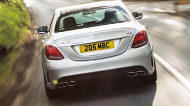 Mercedes C63 AMG saloon - rear