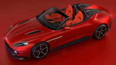 Aston Martin Vanquish Zagato Speedster - front above