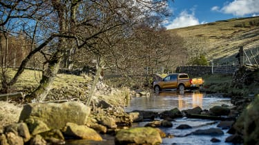 Nissan Navara first UK drive - off road river