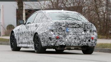BMW M3 spy shot rear quarter