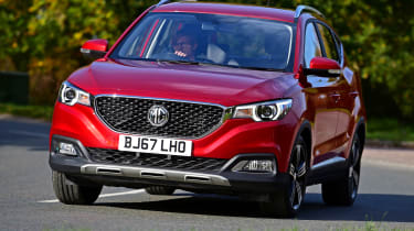 MG ZS - front cornering