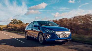 Hyundai Ioniq hybrid electric driving