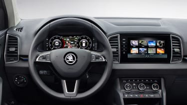 Skoda Karoq Scout close up dashboard