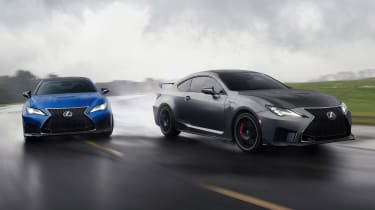 Lexus RC F and RC F Track Edition - action