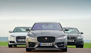Jaguar XF vs Audi A6 vs BMW 5 Series - group test front