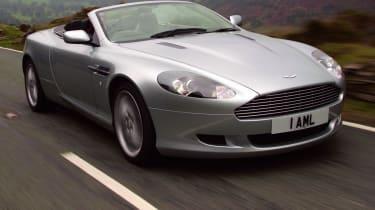 Aston Martin DB9 Volante convertible front tracking