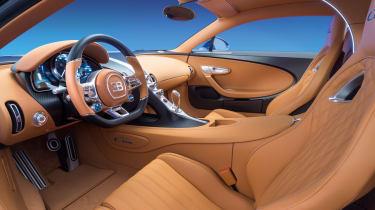 Bugatti Chiron - interior driver