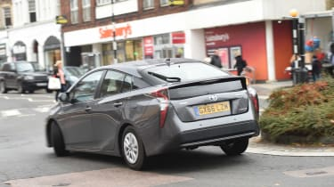 Toyota Prius long-termer - cornering rear