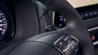 Hyundai Kona hybrid - steering wheel detail