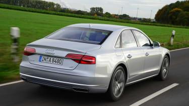 Audi A8 saloon 2014 rear track
