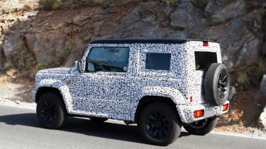 2019 Suzuki Jimny spy shot rear quarter
