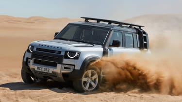 2019 Land Rover Defender in sand