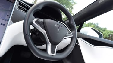 tesla model s interior steering wheel