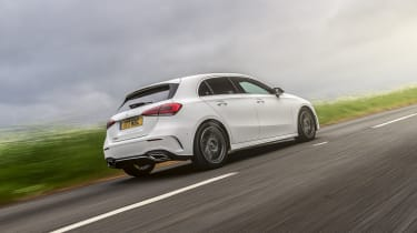 Mercedes A 180 d AMG Line tracking rear