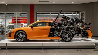 Petersen Automotive Museum - Audi R8 exploded side