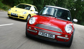 MINI Cooper vs VW Beetle - modern classic head-to-head