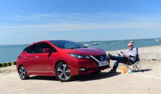 Nissan Leaf Long Termer beach