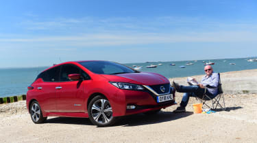 Nissan Leaf Long Termer beach