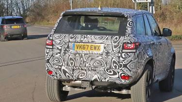 Land Rover Defender test mule rear
