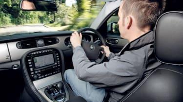 Jaguar XJ driver