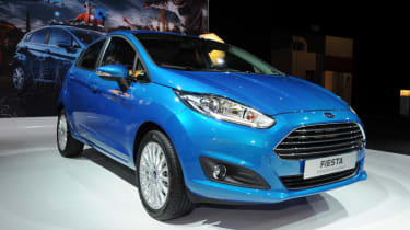 Facelifted Ford Fiesta front