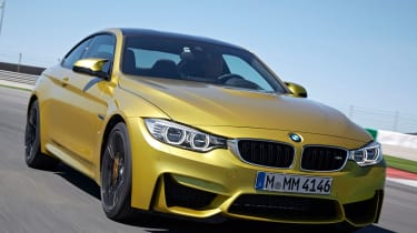 BMW M4 coupe front profile