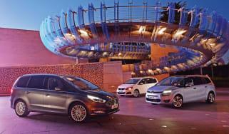 Ford Galaxy vs Citroen Grand C4 Picasso & SEAT Alhambra