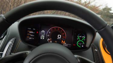 McLaren 570S first UK drive - dash