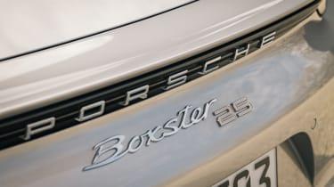 Porsche Boxster 25 Years - rear badge