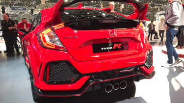 New Honda Civic Type R show - rear