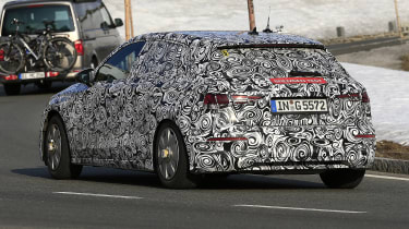 Audi A3 spied - rear tracking