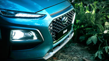 Hyundai Kona - front lights