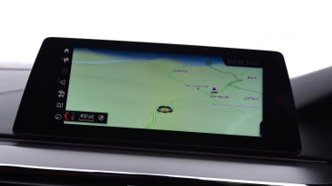 BMW M5 infotainment screen