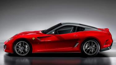 Ferrari 599 GTO coupe profile