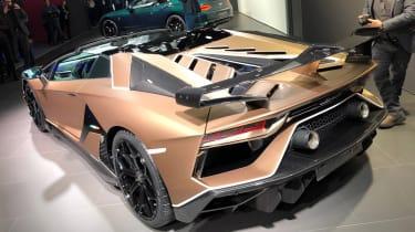Lamborghini Aventador SVJ Roadster - Geneva rear