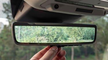 Range Rover Evoque digital rear view mirror