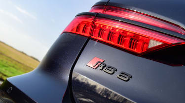 Audi RS6 2020 review - rear light and badge