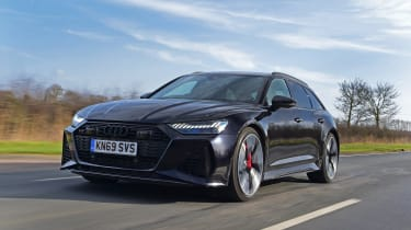 Audi RS6 2020 review - front tracking