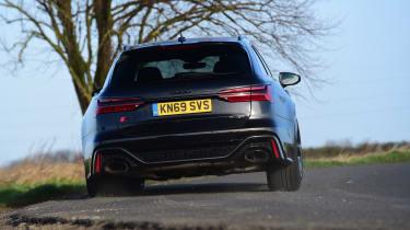 Audi RS6 2020 review - rear cornering
